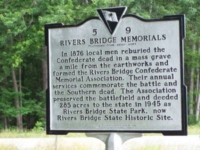 Rivers Bridge Memorials Marker image. Click for full size.