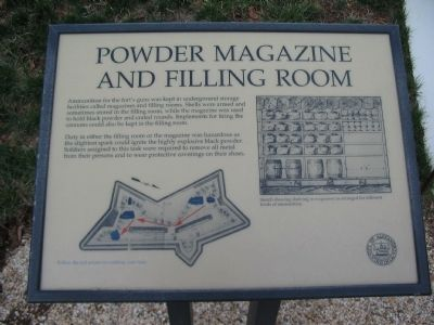 Powder Magazine and Filling Room Marker image. Click for full size.