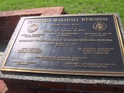 Thurgood Marshall Memorial image. Click for full size.