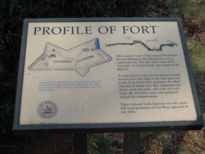 Profile of Fort Marker image. Click for full size.