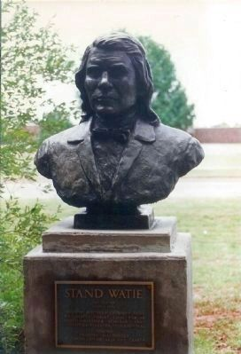 Stand Watie Marker,.. Sculptor : Leonard McMurry image. Click for full size.