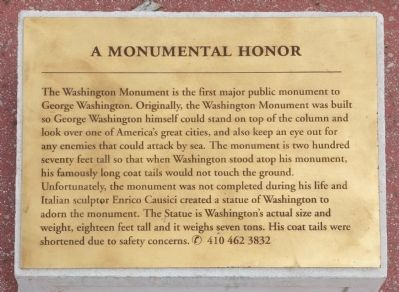 A Monumental Honor Marker image. Click for full size.