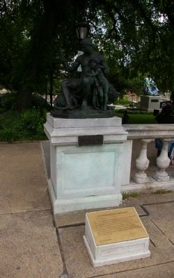 "The marker and statue of ""Force"" image. Click for full size."