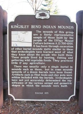 Kingsley Bend Indian Mounds Marker image. Click for full size.