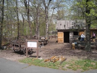 Huts at Fort Lee image. Click for full size.