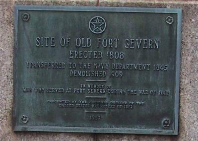 Site of Old Fort Severn Marker image. Click for full size.