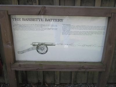 The Barbette Battery Marker image. Click for full size.