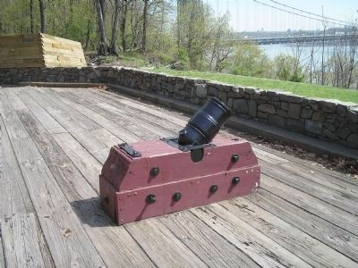 Mortar at Fort Lee Battery image. Click for full size.