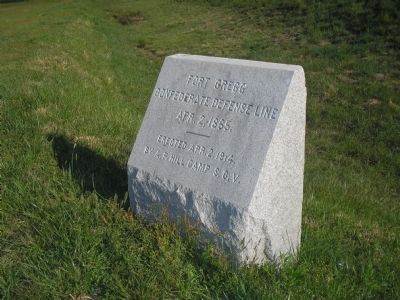 Fort Gregg Marker image. Click for full size.