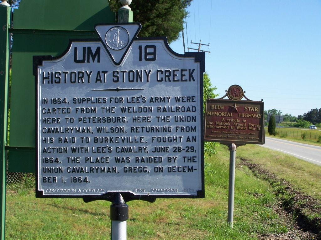 History of Stony Creek Marker