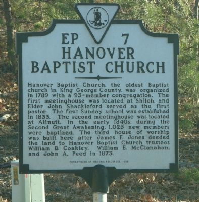 Hanover Baptist Church image. Click for full size.