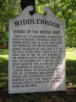 Middlebrook Marker image. Click for full size.