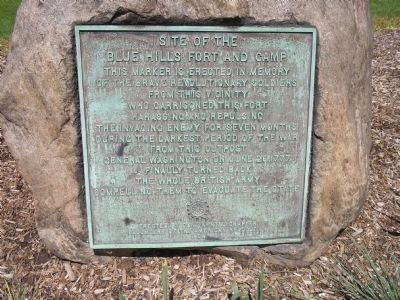 Site of the Blue Hills Fort and Camp Marker image. Click for full size.