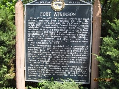 Fort Atkinson Marker image. Click for full size.