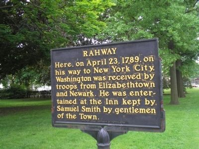 Rahway Marker image. Click for full size.