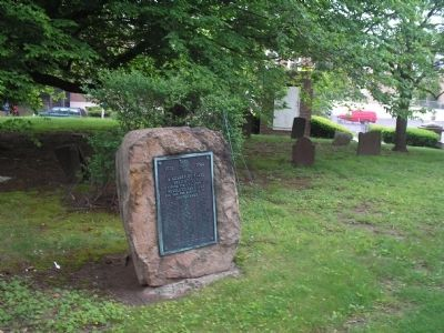 D.A.R. Plaque in Churchyard image. Click for full size.