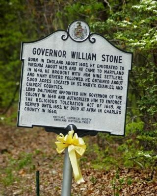 Governor William Stone with Yellow Ribbon image. Click for full size.
