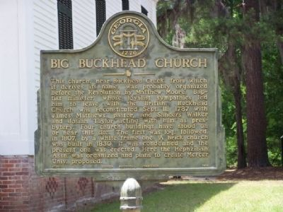 Big Buckhead Church Marker image. Click for full size.