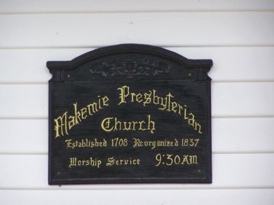 Makemie Presbyterian Church Plaque image. Click for full size.