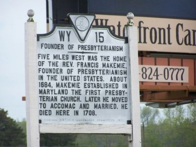 Founder of Presbyterianism Marker image. Click for full size.