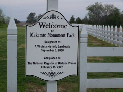 Makemie Monument Park Marker image. Click for full size.