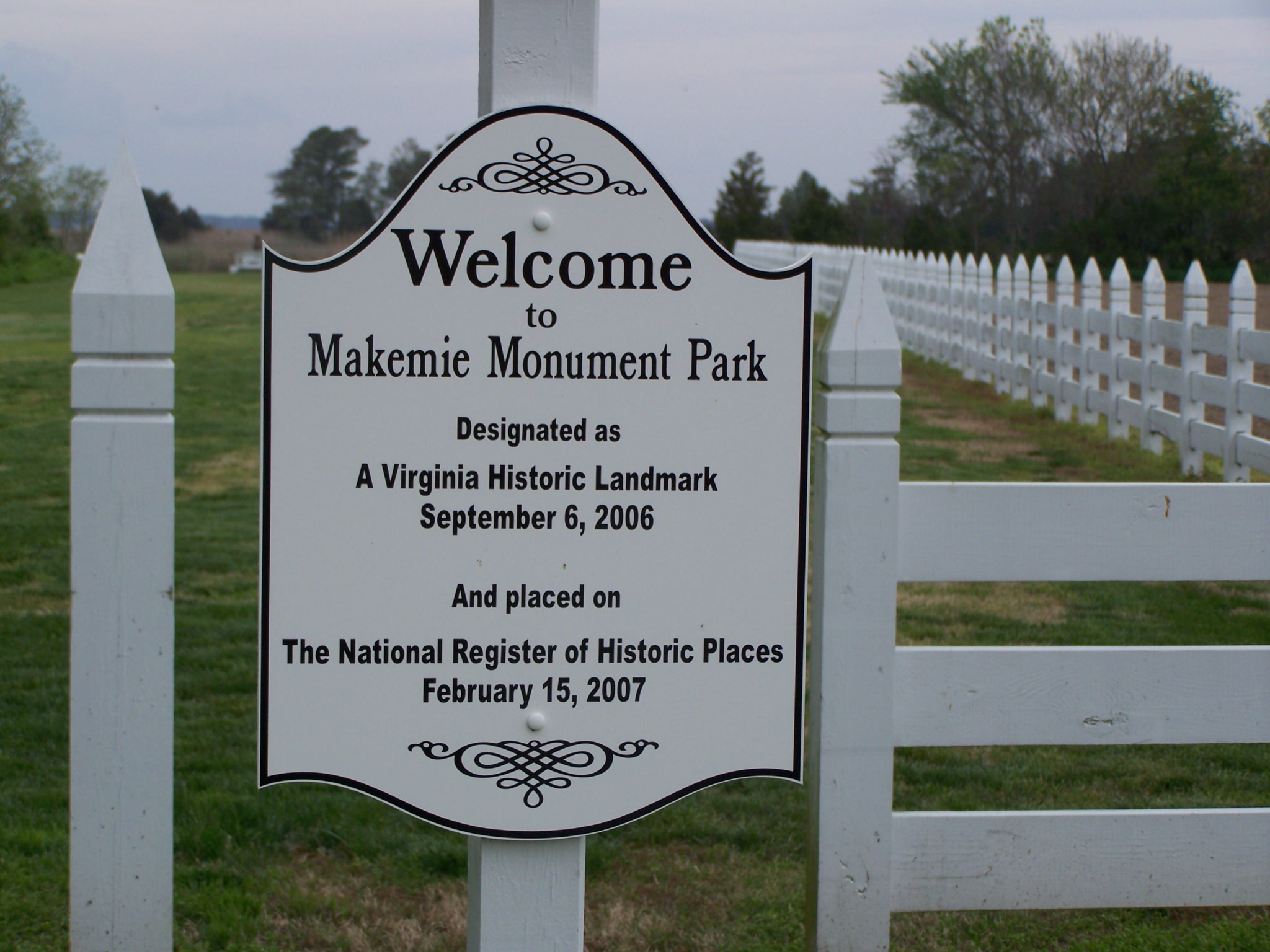 Makemie Monument Park Marker