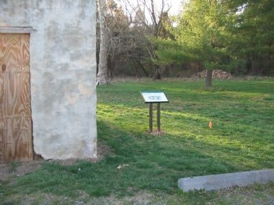 Marker Seen from the Parking Lot Next to the Well House image. Click for full size.