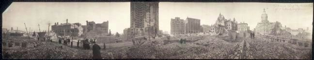 Cycloramic view of the burned area of Baltimore's Fire image. Click for full size.