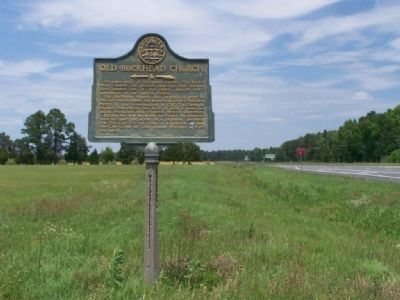 Old Buckhead Church Marker, looking North along US 25 image. Click for full size.