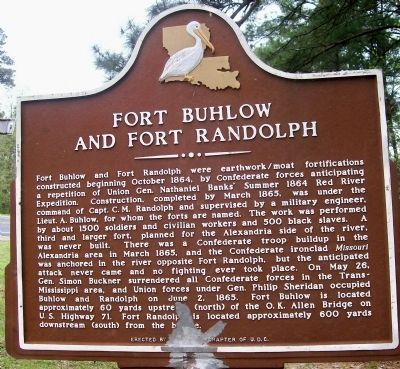 Fort Buhlow and Fort Randolph Marker image. Click for full size.