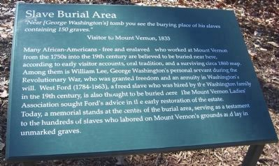Slave Burial Area image. Click for full size.