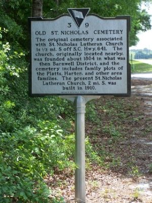 Old St. Nicholas Cemetery Marker image. Click for full size.