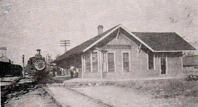 """Bee Line"" (Big 4) Railroad Depot image. Click for full size."