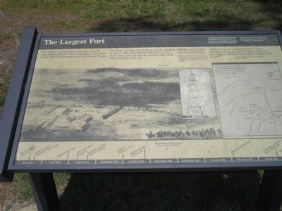 The Largest Fort Marker image. Click for full size.