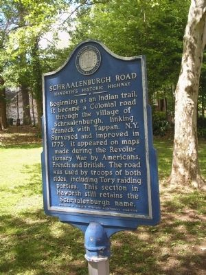 Schraalenburgh Road Marker image. Click for full size.