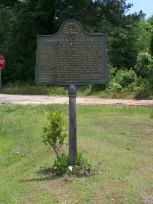 Sherman's Advance Marker at Jarrell Pond Rd image. Click for full size.