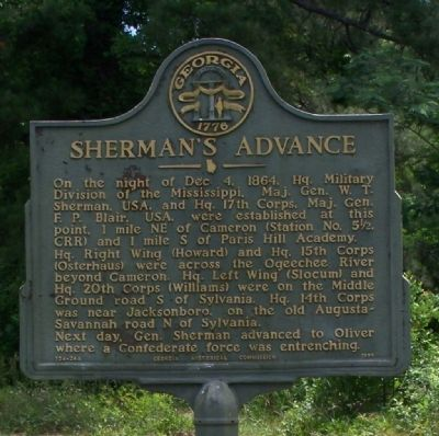 Sherman's Advance Marker image. Click for full size.