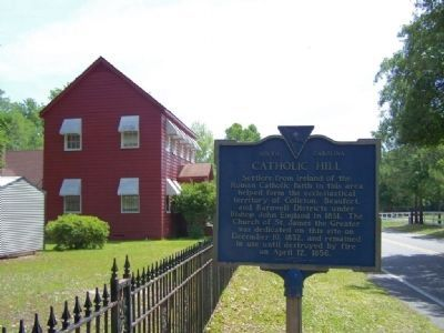 Catholic Hill Marker, looking east on Ritter Rd image. Click for full size.