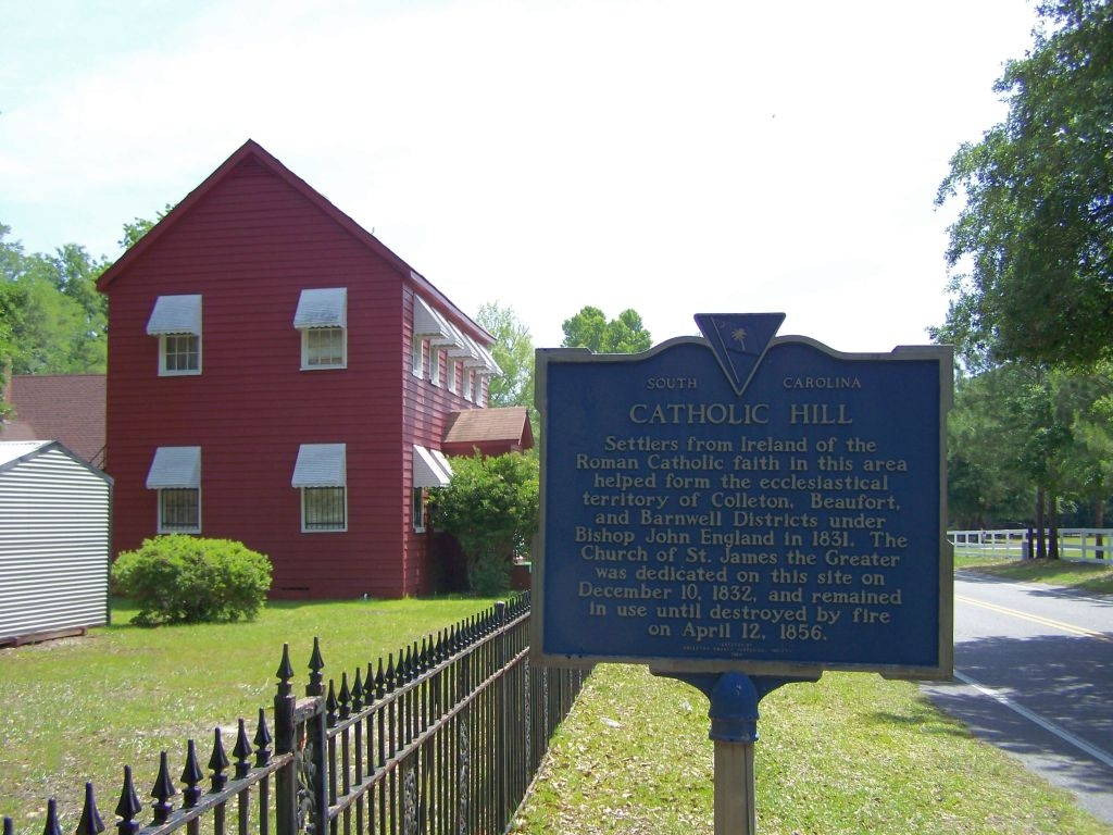 Catholic Hill Marker, looking east on Ritter Rd