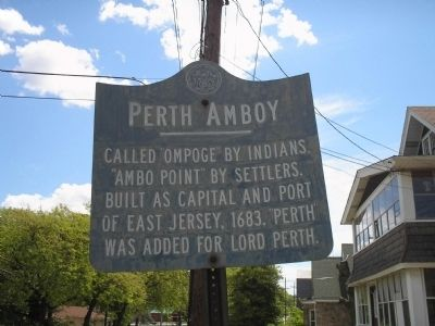 Perth Amboy Marker image. Click for full size.