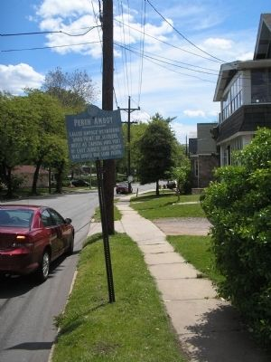 Marker on New Brunswick Avenue image. Click for full size.