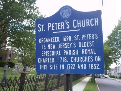 St. Peter's Church Marker image. Click for full size.