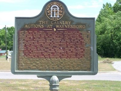The Cavalry Actions at Waynesboro Marker image. Click for full size.