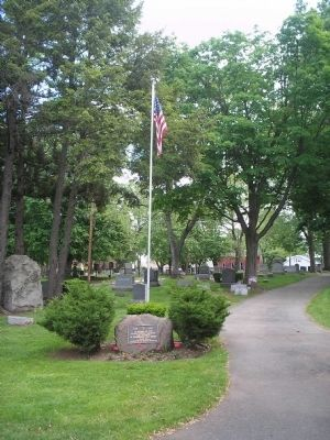 Marker and Flagpole image. Click for full size.