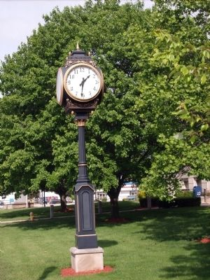 Court House Clock. image. Click for full size.