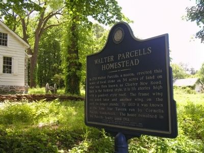 Walter Parcells Homestead Marker image. Click for full size.