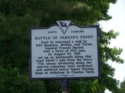 Battle Of Parker's Ferry Marker image. Click for full size.
