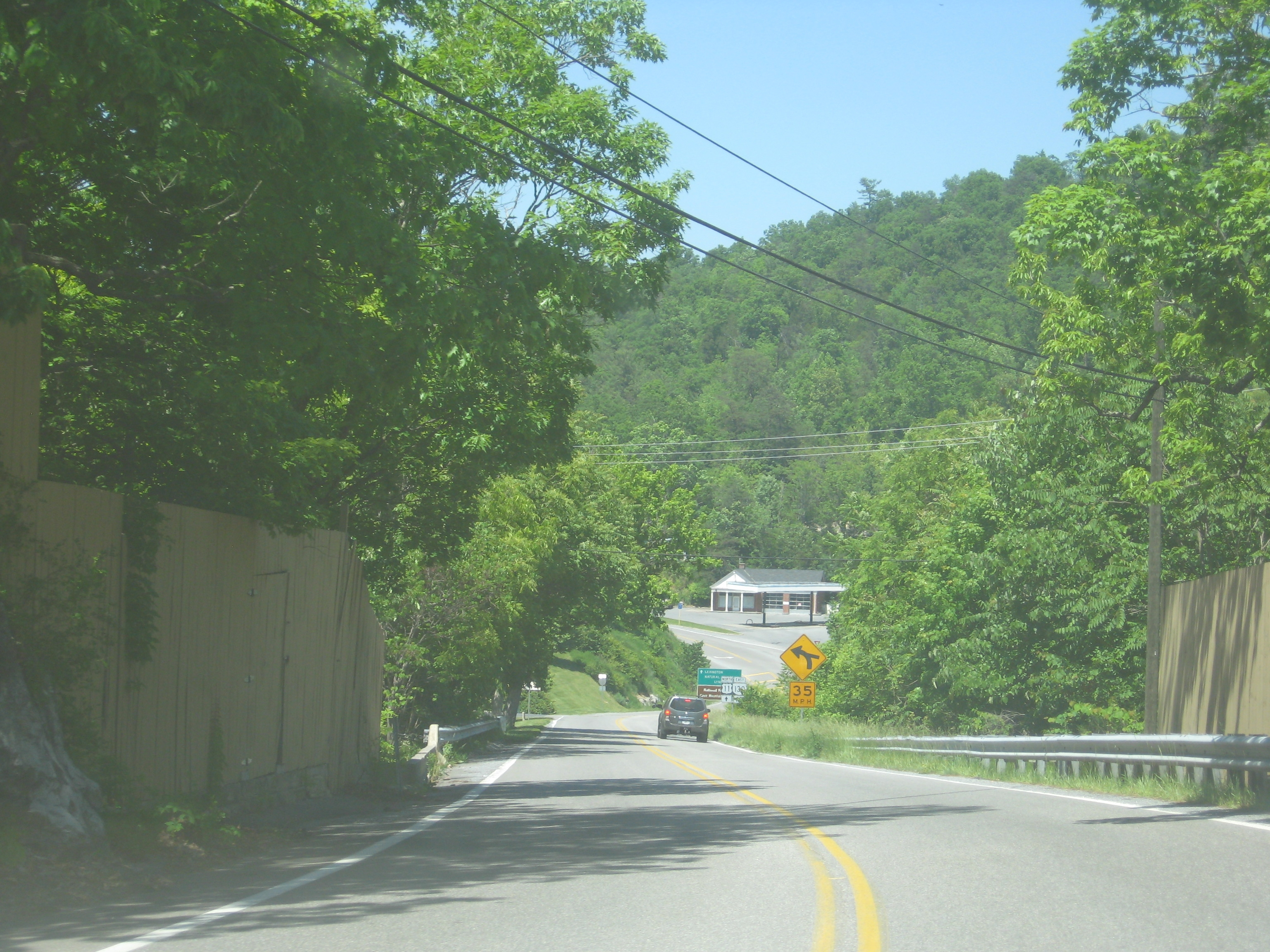 Photo of Route 11 as it goes over Natural Bridge.