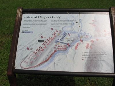 Battle of Harpers Ferry Marker image. Click for full size.