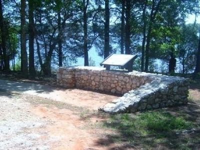 Fort Charlotte Memorial<br>Lake Thurmond in the Background. image. Click for full size.